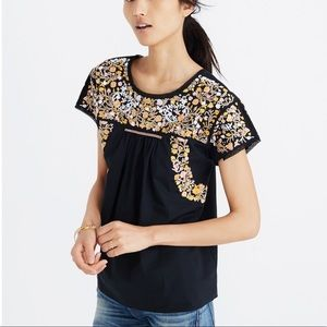 Madewell embroidered springtime top XXS